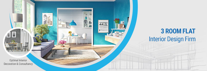 3 room flat interior design firm in Bangladesh